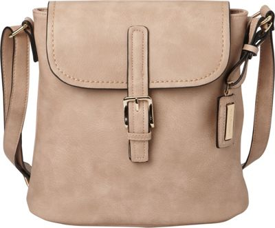 Hush Puppies Fannie Crossbody Taupe - Hush Puppies Manmade Handbags