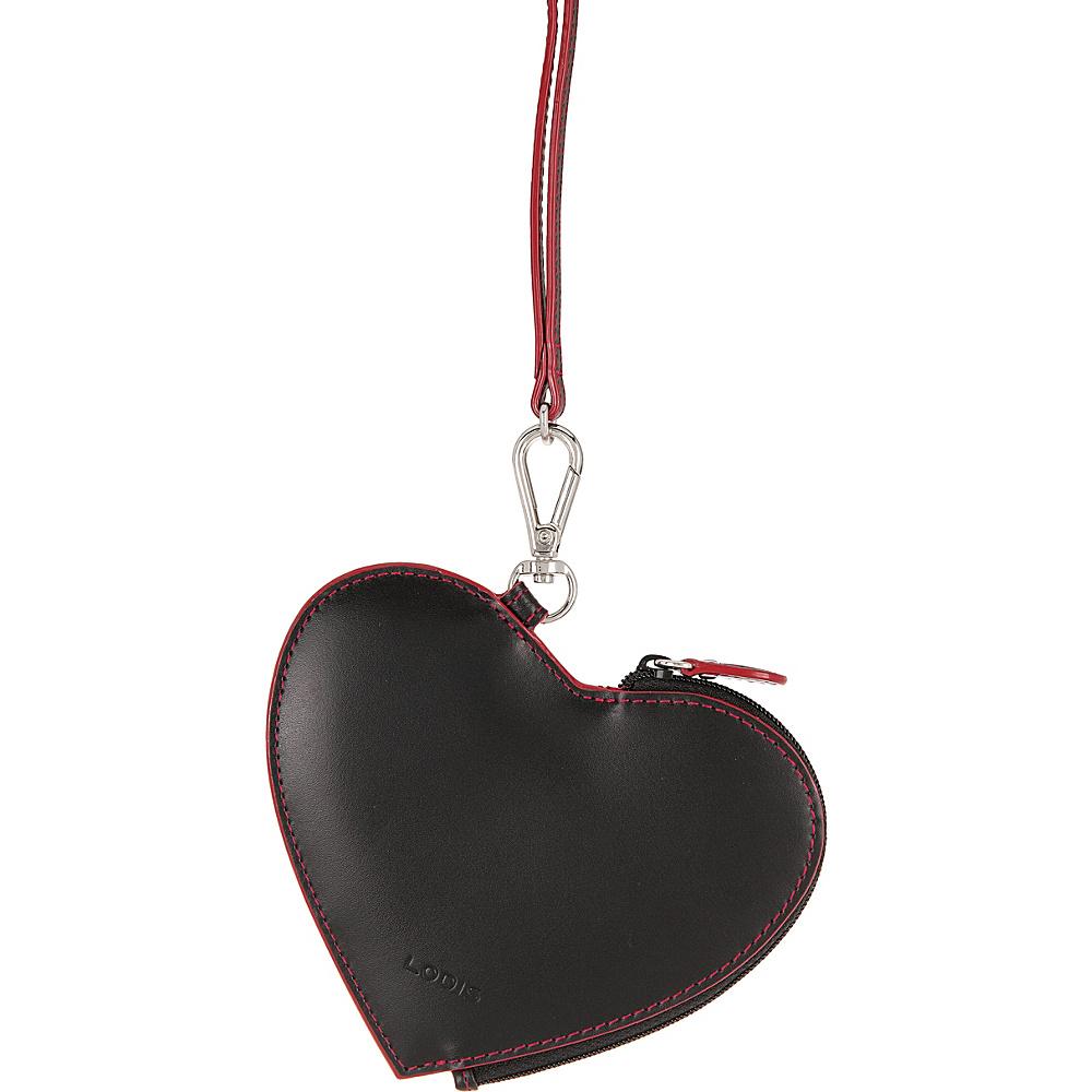 Lodis Audrey Elda Heart Pouch w/ Lanyard Black - Lodis Womens SLG Other - Women's SLG, Women's SLG Other