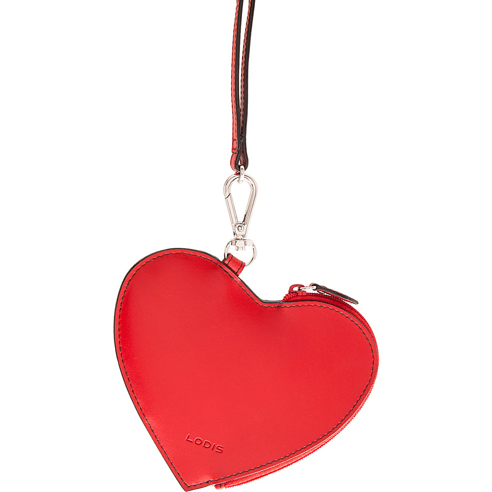Lodis Audrey Elda Heart Pouch w/ Lanyard Red - Lodis Womens SLG Other - Women's SLG, Women's SLG Other