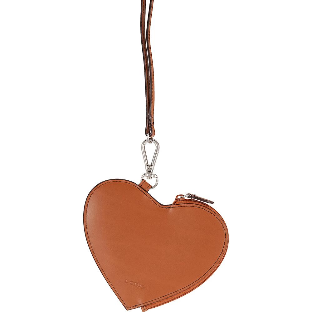 Lodis Audrey Elda Heart Pouch w/ Lanyard Toffee - Lodis Womens SLG Other - Women's SLG, Women's SLG Other