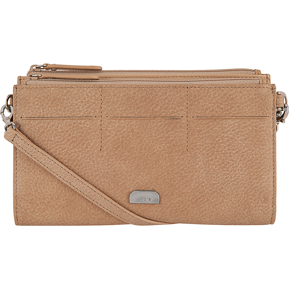 Lodis Gijon Fairen Clutch Crossbody Desert - Lodis Leather Handbags - Handbags, Leather Handbags