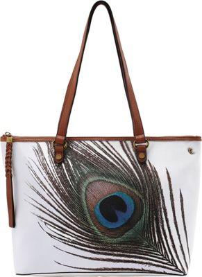 Elliott Lucca Ana Small Tote White Peacock - Elliott Lucca Designer Handbags