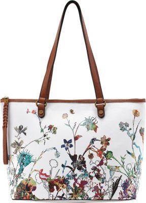 Elliott Lucca Ana Small Tote White Botanica - Elliott Lucca Designer Handbags