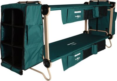 Disc-O-Bed CamOBunk Large 2 Organizer 2 Cabinet 2 Leg Extensions Green - Disc-O-Bed Outdoor Accessories