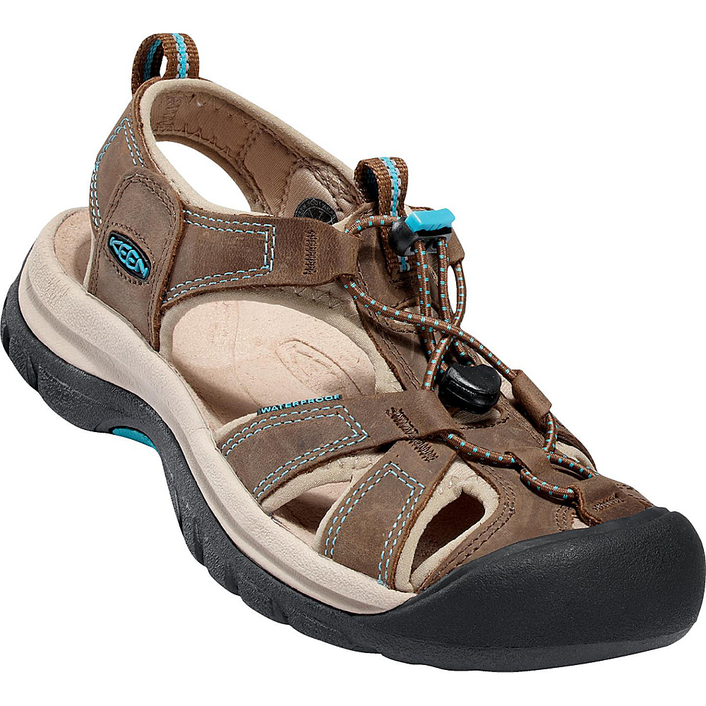 KEEN Womens Venice Sandal 5 - Dark Earth/ Caribbean Sea - KEEN Womens Footwear - Apparel & Footwear, Women's Footwear