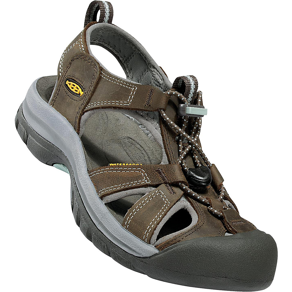 KEEN Womens Venice Sandal 7.5 - Black Olive/Surf Spray - KEEN Womens Footwear - Apparel & Footwear, Women's Footwear