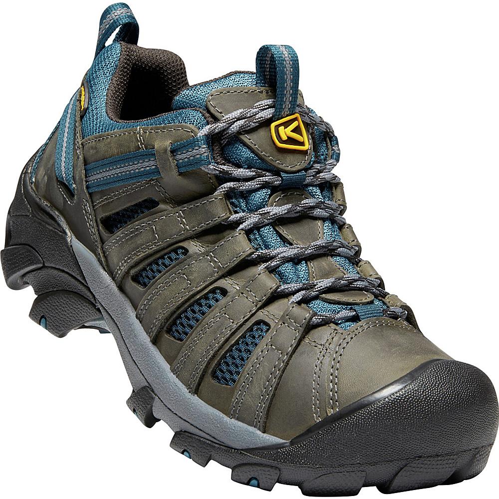 KEEN Mens Voyageur Hiking Shoe 9.5 - Alcatraz/Legion Blue - KEEN Mens Footwear - Apparel & Footwear, Men's Footwear