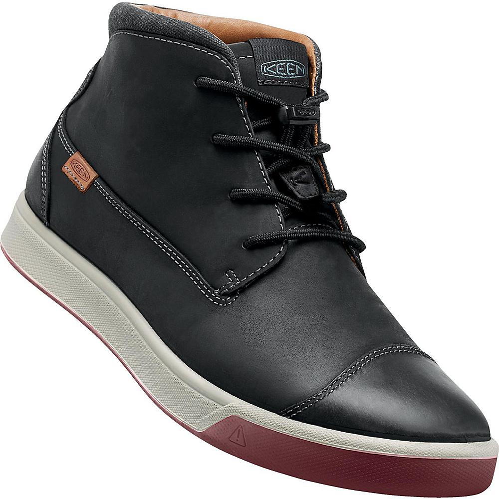 KEEN Mens Glenhaven Mid Sneaker 10 - Black - KEEN Mens Footwear - Apparel & Footwear, Men's Footwear