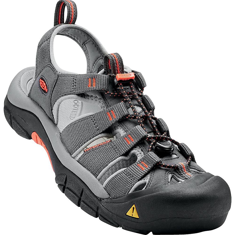KEEN Mens Newport H2 Sandal 12 - Magnet/Nasturtium - KEEN Mens Footwear - Apparel & Footwear, Men's Footwear