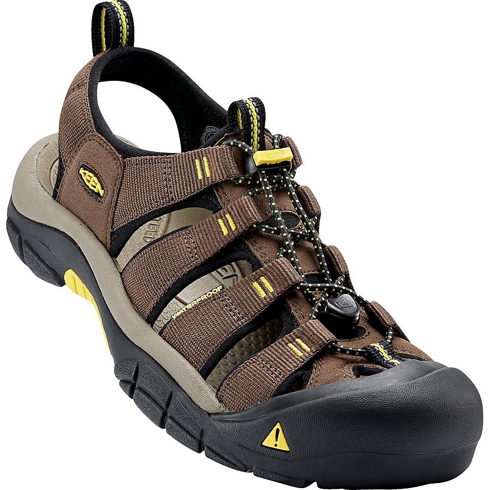 KEEN Mens Newport H2 Sandal 9.5 - Dark Earth/Acacia - KEEN Mens Footwear - Apparel & Footwear, Men's Footwear