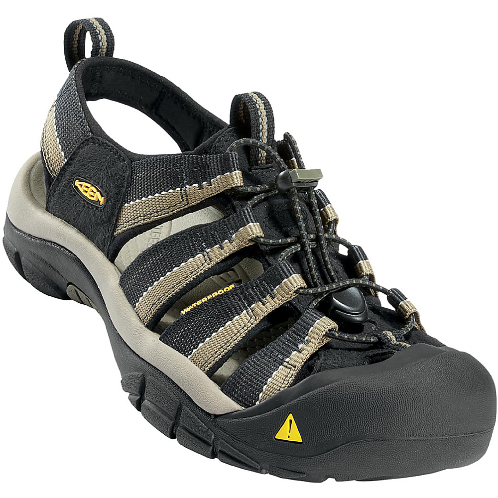 KEEN Mens Newport H2 Sandal 9 - Black / Stone Grey - KEEN Mens Footwear - Apparel & Footwear, Men's Footwear