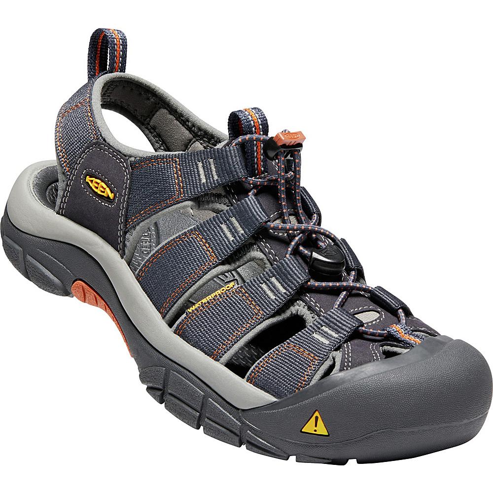 KEEN Mens Newport H2 Sandal 8 - India Ink/Rust - KEEN Mens Footwear - Apparel & Footwear, Men's Footwear