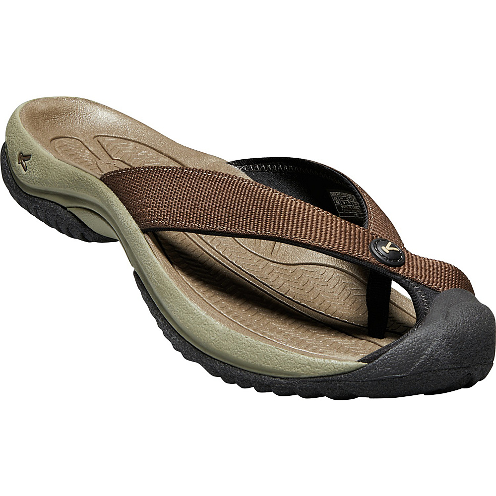 KEEN Mens Waimea H2 Sandal 9 - Dark Earth/Jet Black - KEEN Mens Footwear - Apparel & Footwear, Men's Footwear