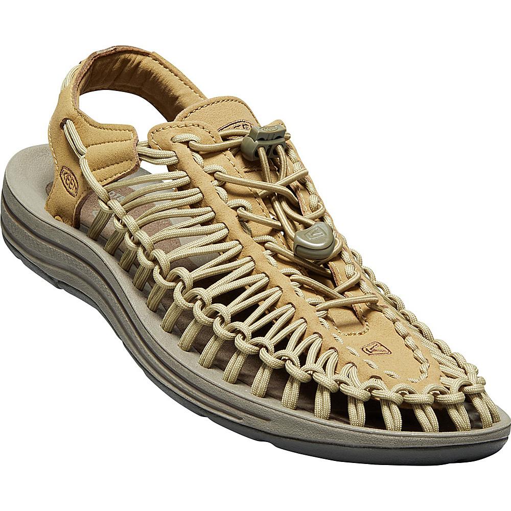 KEEN Mens UNEEK Round Cord Sandal 9.5 - Antique Bronze/Canteen - KEEN Mens Footwear - Apparel & Footwear, Men's Footwear