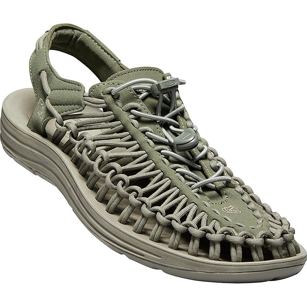 KEEN Mens UNEEK Round Cord Sandal 10.5 - Dusty Olive/Brindle - KEEN Mens Footwear - Apparel & Footwear, Men's Footwear