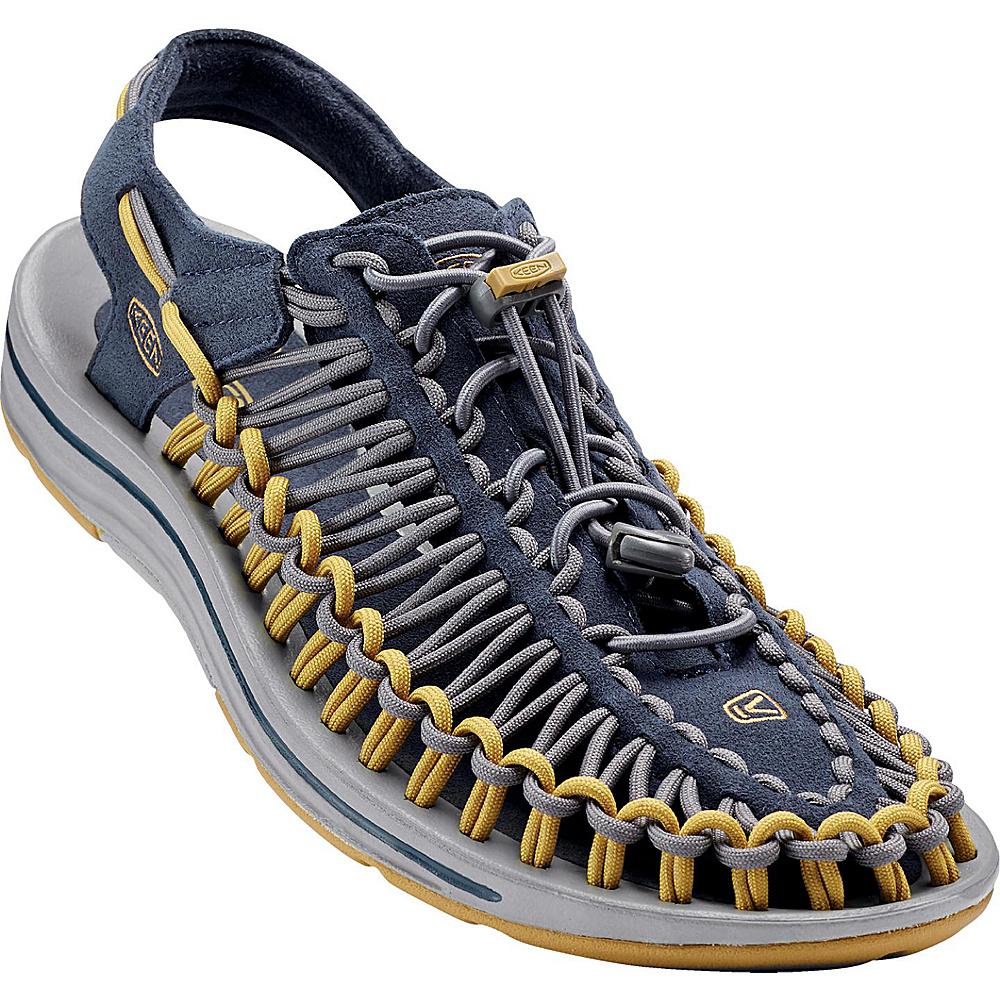 KEEN Mens UNEEK Round Cord Sandal 13 - Midnight Navy/Bronze Mist - KEEN Mens Footwear - Apparel & Footwear, Men's Footwear