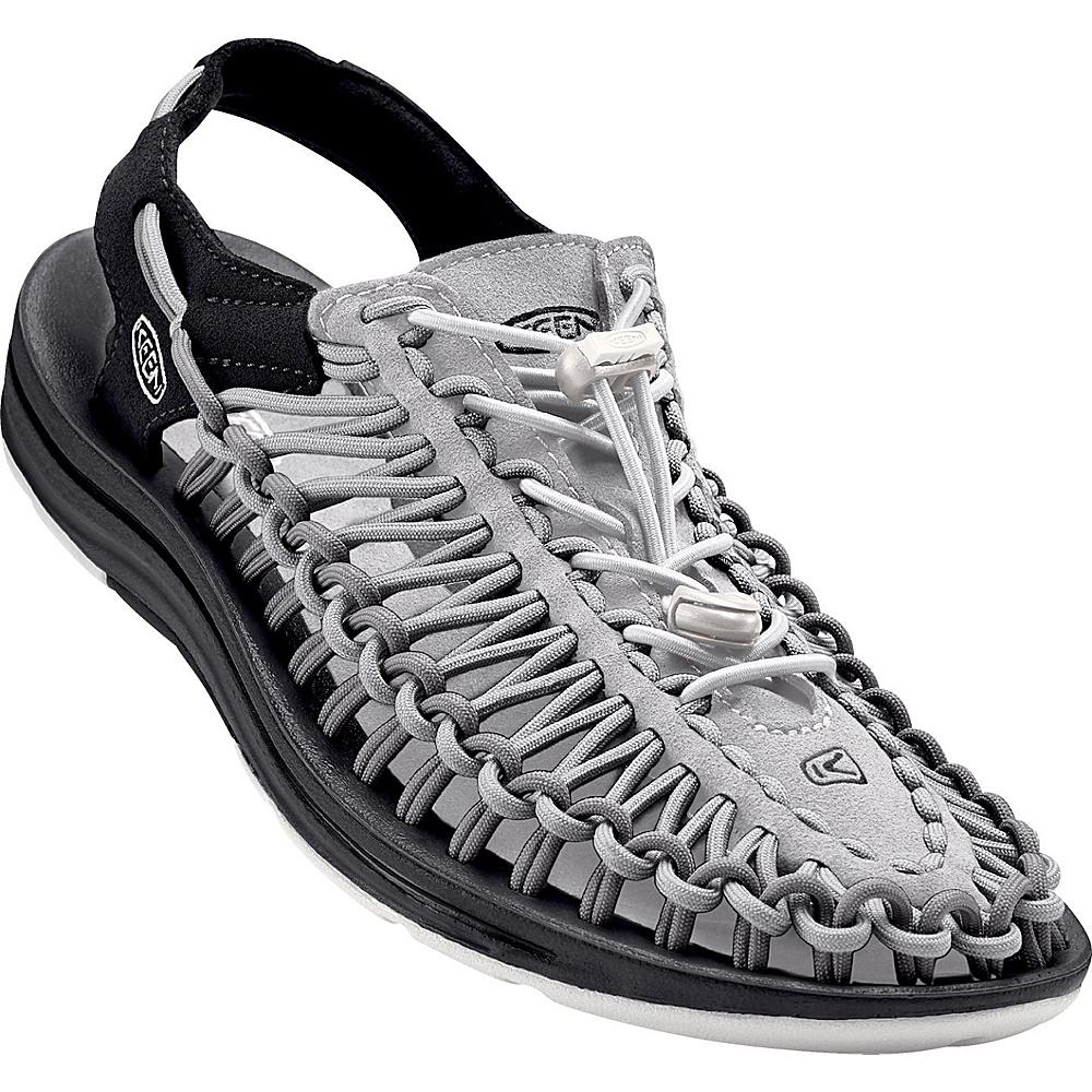 KEEN Mens UNEEK Round Cord Sandal 14 - Nimbus Cloud/Asphalt - KEEN Mens Footwear - Apparel & Footwear, Men's Footwear