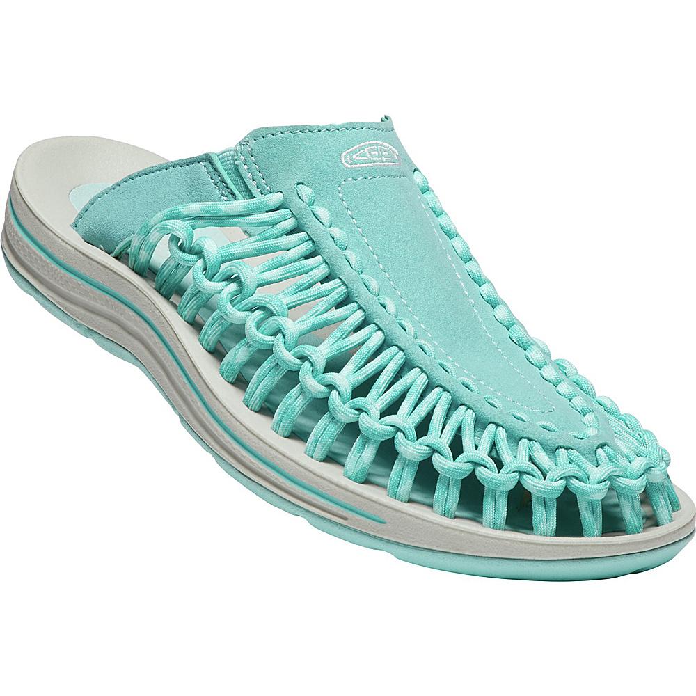 KEEN Womens UNEEK Slide Sandal 9 - Aqua Sea/Pastel Turquoise - KEEN Womens Footwear - Apparel & Footwear, Women's Footwear