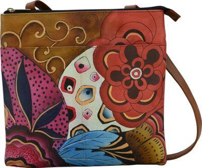 ANNA by Anuschka Multicompartment Crossbody Tribal Potpourri - ANNA by Anuschka Leather Handbags