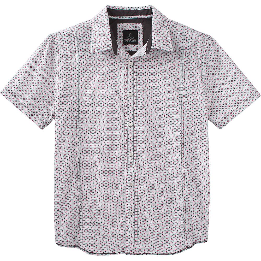 PrAna Lukas Shirt L - Charcoal - PrAna Mens Apparel - Apparel & Footwear, Men's Apparel