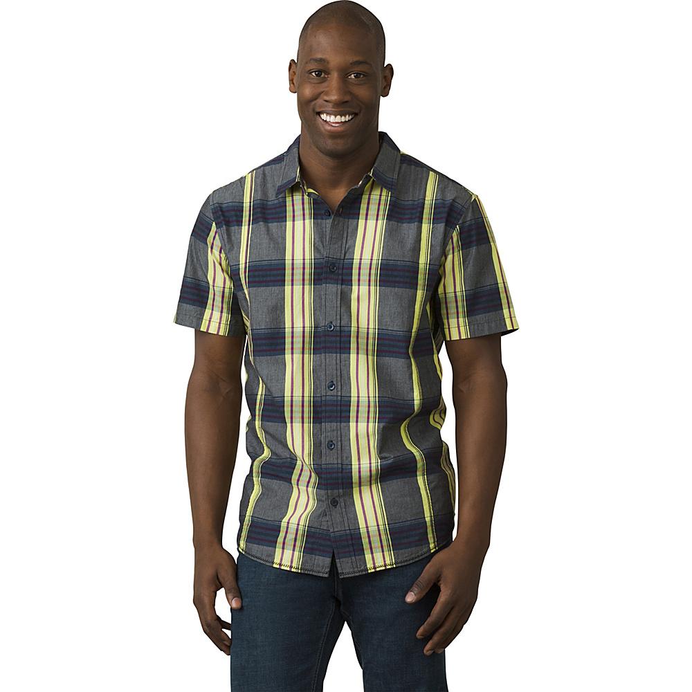 PrAna Lukas Shirt S - Coal - PrAna Mens Apparel - Apparel & Footwear, Men's Apparel