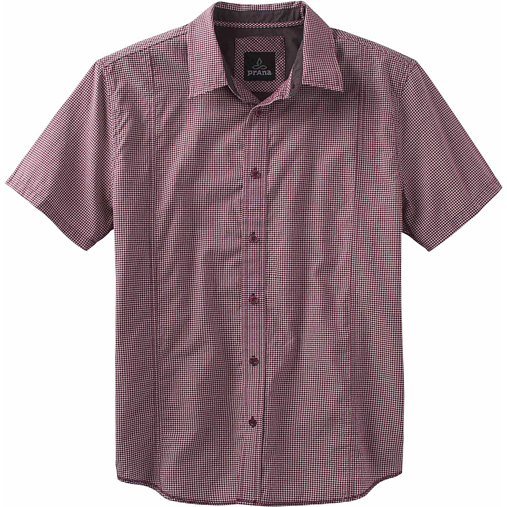 PrAna Lukas Shirt 3XL - Eggplant - PrAna Mens Apparel - Apparel & Footwear, Men's Apparel