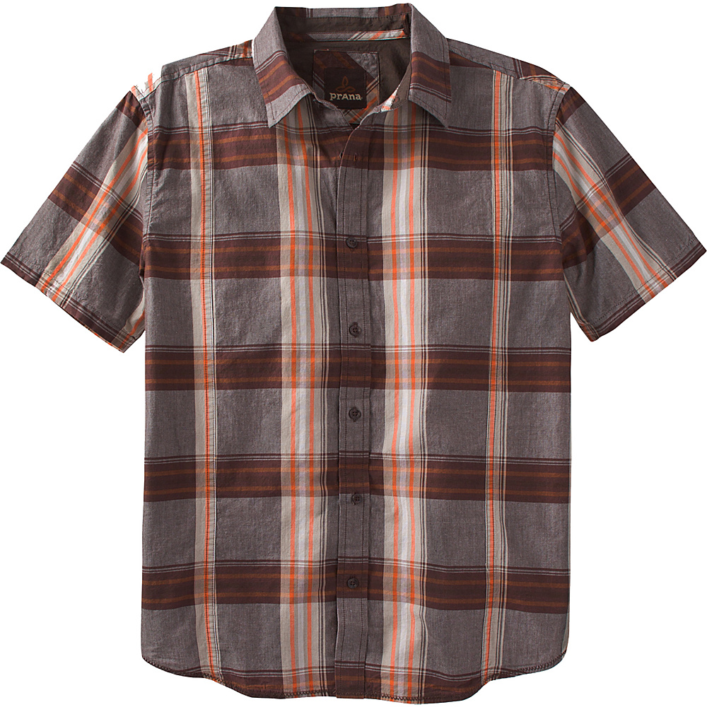 PrAna Lukas Shirt 3XL - Mud - PrAna Mens Apparel - Apparel & Footwear, Men's Apparel
