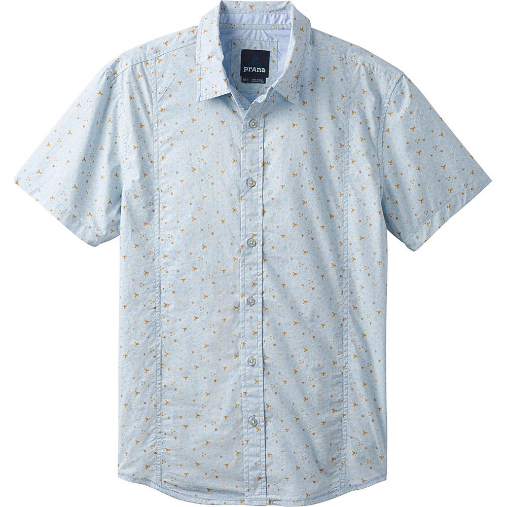 PrAna Lukas Shirt S - Beaming Blue - PrAna Mens Apparel - Apparel & Footwear, Men's Apparel