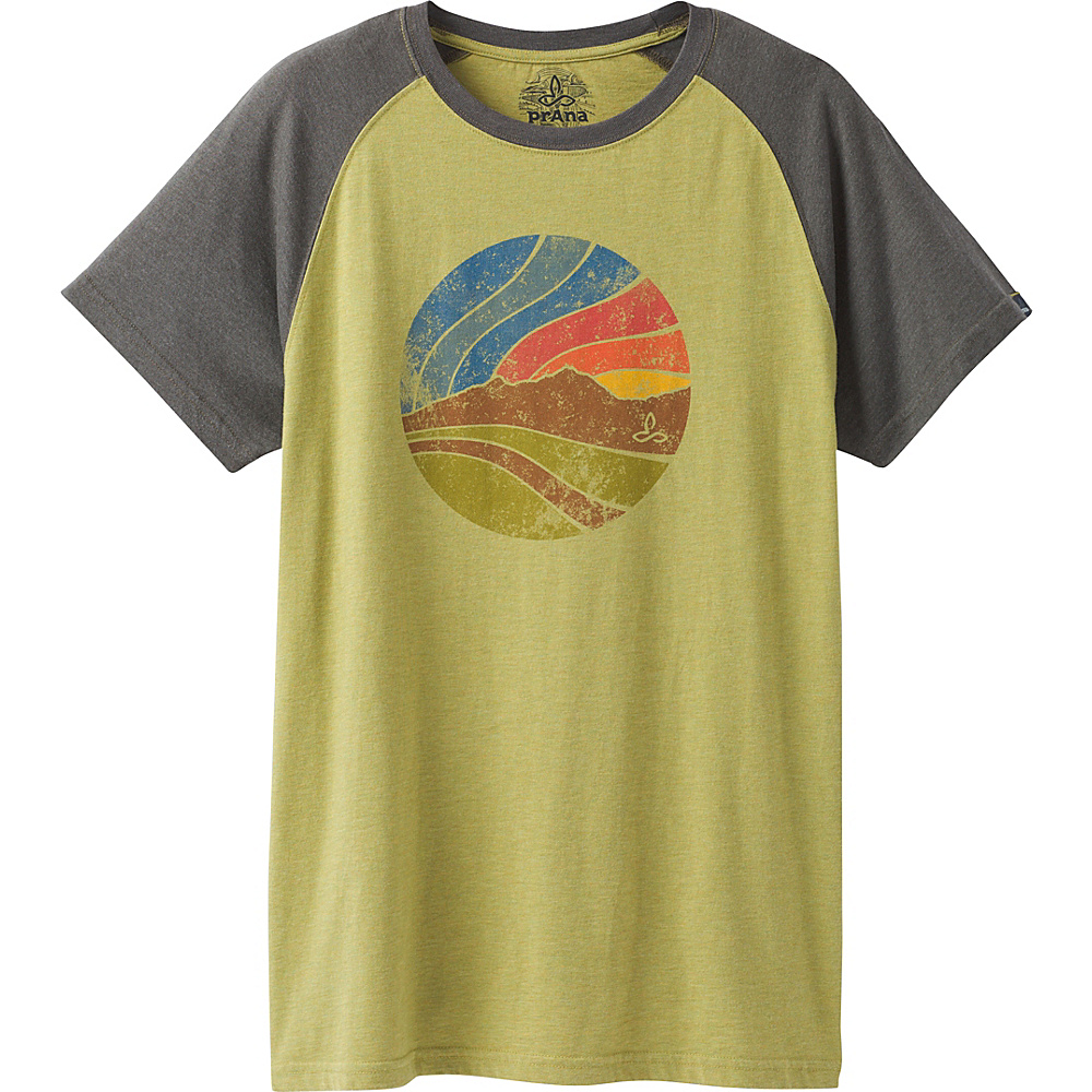 PrAna Sunset Raglan T-Shirt L - Pear - PrAna Mens Apparel - Apparel & Footwear, Men's Apparel