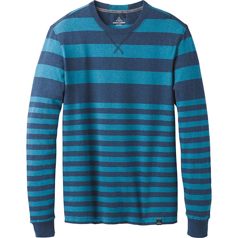 PrAna Setu Crew Shirt M - Dusk Blue - PrAna Mens Apparel - Apparel & Footwear, Men's Apparel