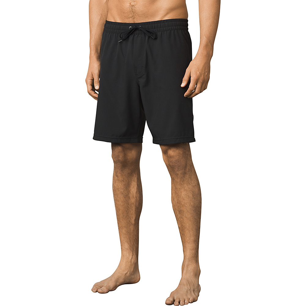 PrAna Asym E-waist Short L - Black - PrAna Mens Apparel - Apparel & Footwear, Men's Apparel