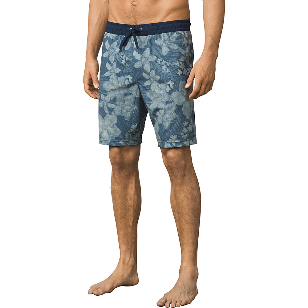 PrAna Asym E-waist Short S - Dusky Skies Aloha - PrAna Mens Apparel - Apparel & Footwear, Men's Apparel