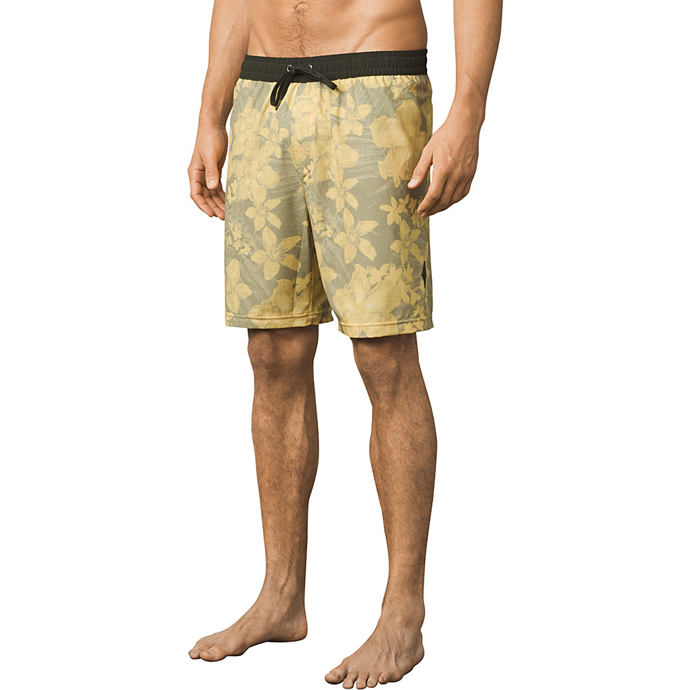 PrAna Asym E-waist Short M - Lemongrass Aloha - PrAna Mens Apparel - Apparel & Footwear, Men's Apparel