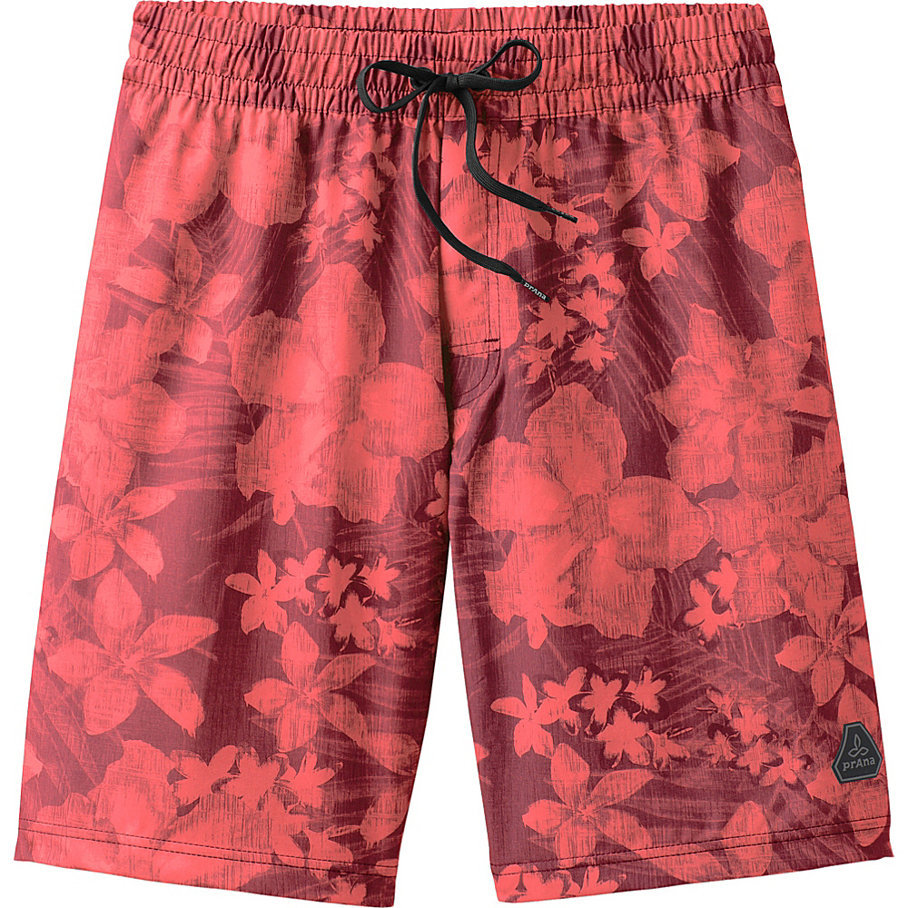 PrAna Asym E-waist Short M - Raisin Aloha - PrAna Mens Apparel - Apparel & Footwear, Men's Apparel