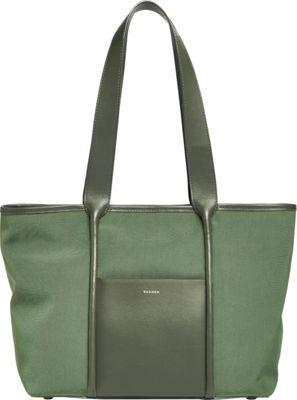 Skagen Lisabet Nylon Tote Agave - Skagen Fabric Handbags