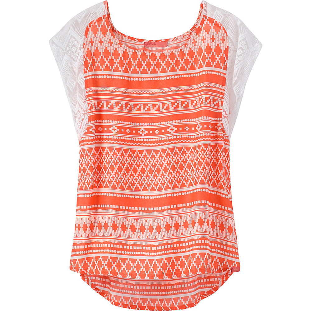 PrAna Aleen Top L - Sunlit Coral - PrAna Womens Apparel - Apparel & Footwear, Women's Apparel