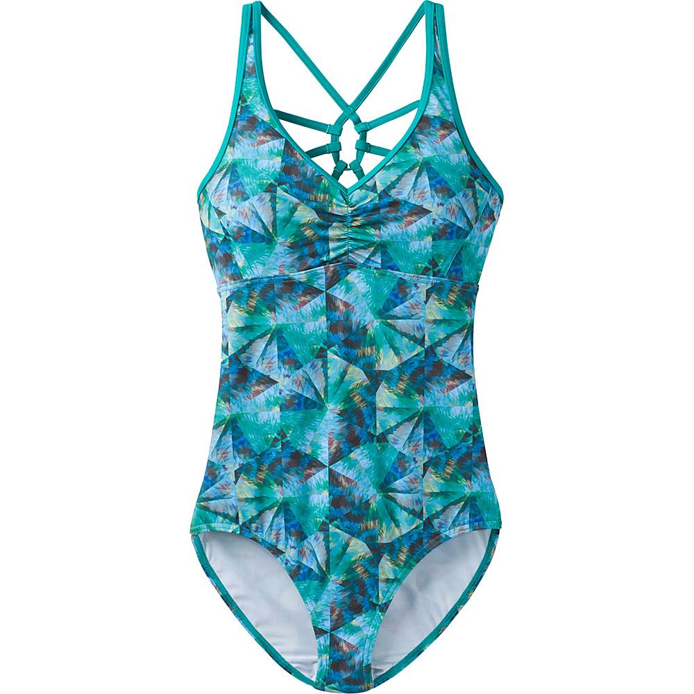 PrAna Dreaming Swim One Piece M - Emerald Pinwheel - PrAna Womens Apparel - Apparel & Footwear, Women's Apparel