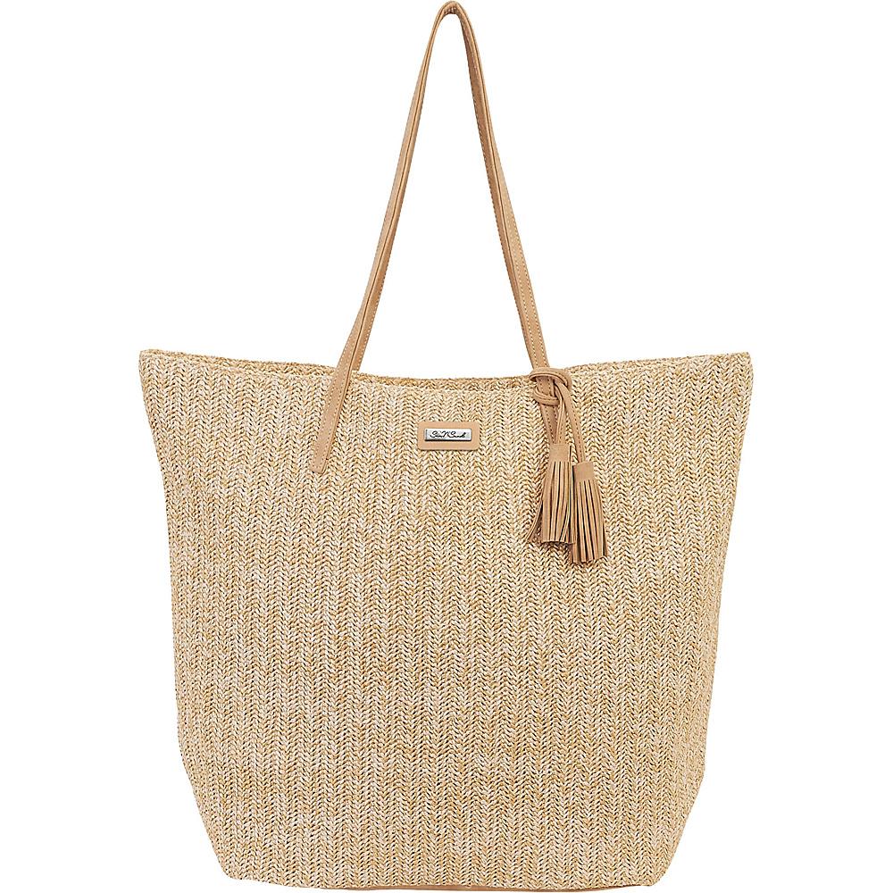 Sun N Sand Natural Crochet Handbag Tote Natural - Sun N Sand Straw Handbags - Handbags, Straw Handbags