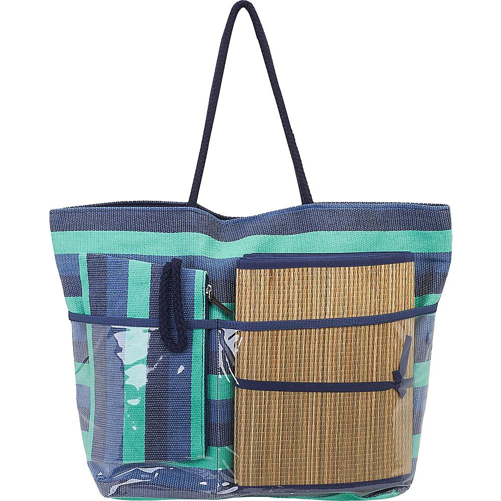 Sun N Sand Beach Bound Beach Canvas Tote Green - Sun N Sand Fabric Handbags - Handbags, Fabric Handbags
