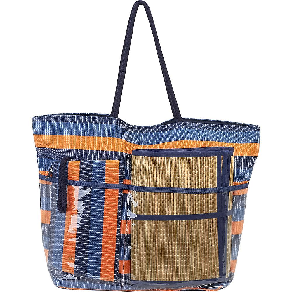 Sun N Sand Beach Bound Beach Canvas Tote Multi - Sun N Sand Fabric Handbags - Handbags, Fabric Handbags