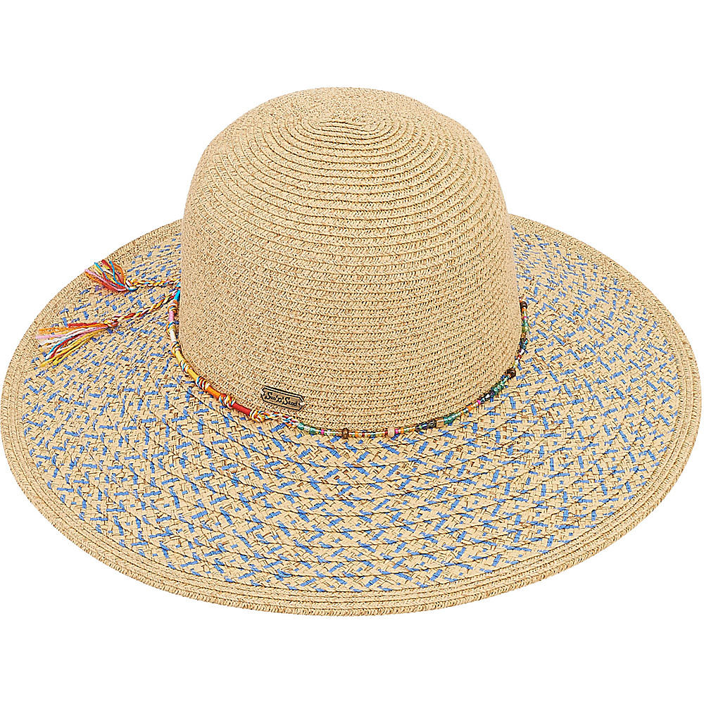 Sun N Sand Paper Braid Hat A-Blue - Sun N Sand Hats/Gloves/Scarves - Fashion Accessories, Hats/Gloves/Scarves