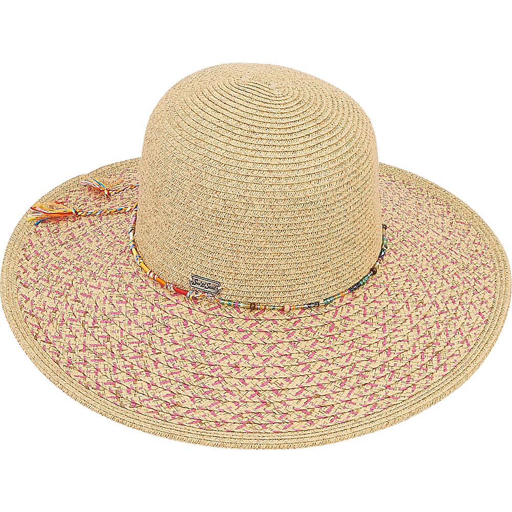 Sun N Sand Paper Braid Hat Fuchsia - Sun N Sand Hats - Fashion Accessories, Hats