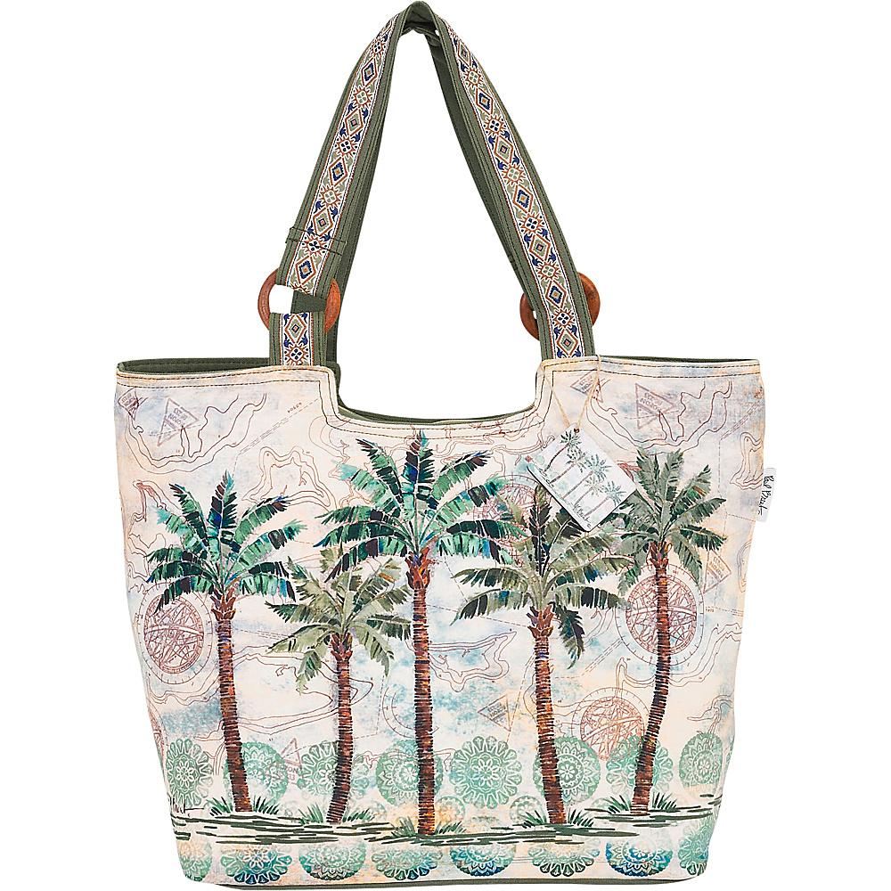 Sun N Sand Paul Brent Artistic Canvas Tote Del Ray Palm - Sun N Sand Fabric Handbags - Handbags, Fabric Handbags