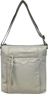Bueno Pearlized Washed Crossbody Dove Grey - Bueno Leather Handbags