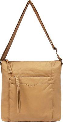 Bueno Pearlized Washed Crossbody Sand - Bueno Leather Handbags