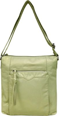 Bueno Pearlized Washed Crossbody Pale Green - Bueno Leather Handbags
