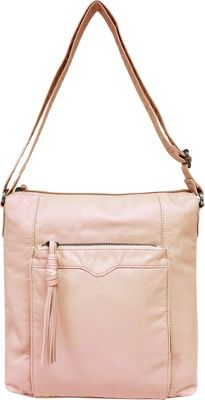 Bueno Pearlized Washed Crossbody Pale Pink - Bueno Leather Handbags