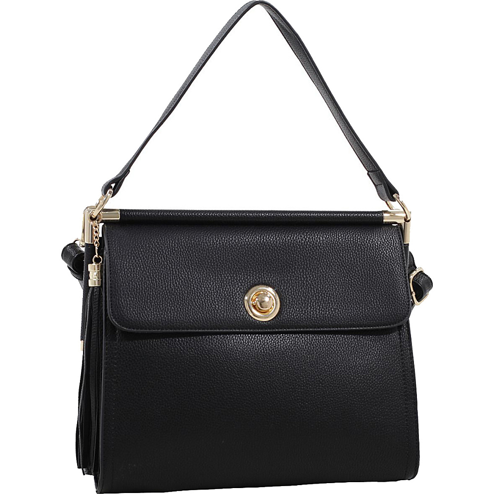 MKF Collection by Mia K. Farrow Peony Oversized Double Compartment Crossbody Black - MKF Collection by Mia K. Farrow Manmade Handbags - Handbags, Manmade Handbags