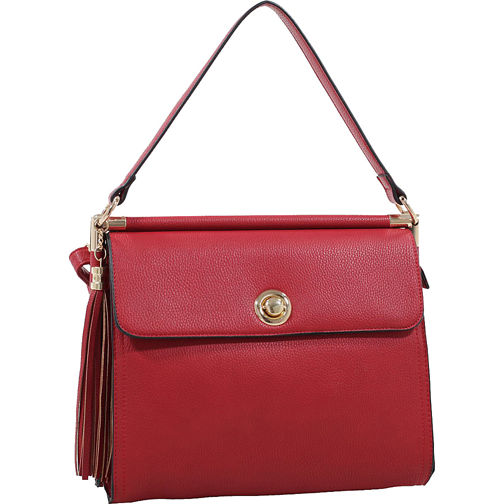 MKF Collection by Mia K. Farrow Peony Oversized Double Compartment Crossbody Red - MKF Collection by Mia K. Farrow Manmade Handbags - Handbags, Manmade Handbags