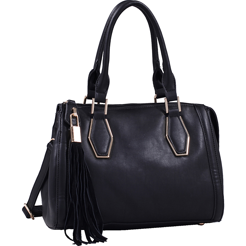 MKF Collection by Mia K. Farrow Nora Satchel Black - MKF Collection by Mia K. Farrow Manmade Handbags - Handbags, Manmade Handbags